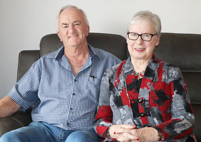 Nellie's first residents: Geoff and Heather are pleased